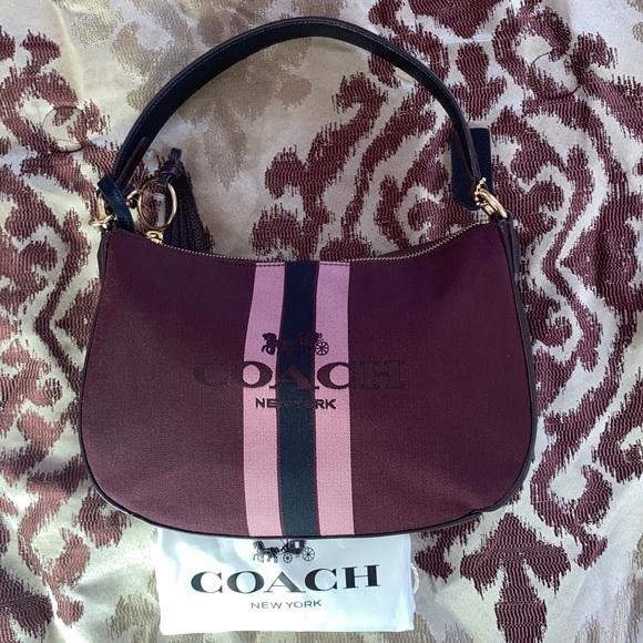 Coach Handbags - 🌸Coach Sutton Oxblood Polished Cross Body Bag